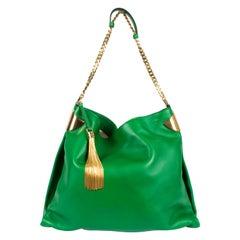 Gucci 1970 Medium Shoulder Bag - green leather/gold