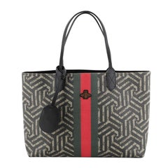 Gucci Bee Web Shopping Tote Caleido Print GG Coated Canvas Medium