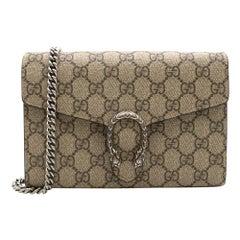 Gucci Dionysus GG Supreme Chain Wallet 20cm