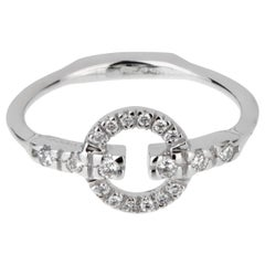 Gucci Double G Diamond White Gold Ring