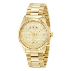 Gucci G-Timeless Gold-Tone Stainless Steel Watch YA126461A