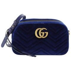 Gucci GG Marmont Shoulder Bag Matelasse Velvet Small