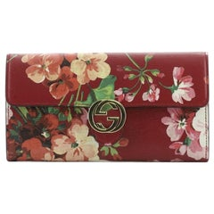 Gucci Icon Continental Wallet Blooms Print Leather