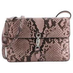 Gucci Jackie Soft Convertible Clutch Python Mini