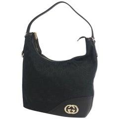 GUCCI one shoulder Interlocking Womens shoulder bag 182491 black