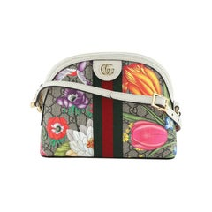 Gucci Ophidia Dome Shoulder Bag Printed GG Coated Canvas Small