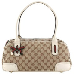 Gucci Princy Boston Bag GG Canvas Small