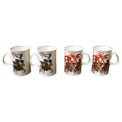 Gucci Set of Four English Bone China Mugs in Gucci Presentation Box c 1980s