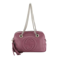 Gucci Soho Chain Zip Shoulder Bag Leather Small