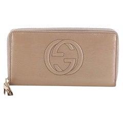 Gucci Soho Zip Around Wallet Leather