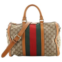 Gucci Vintage Web Boston Bag GG Canvas Medium