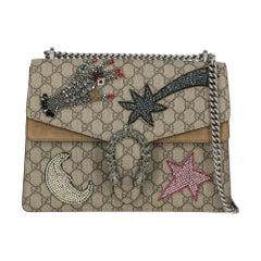 Gucci Women's Shoulder Bag Dionysus Grey Synthetic Fibers