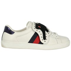 Gucci Women's Sneaker White Leather Size IT 39.5