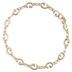 """Gucci Yellow Gold Enamel """"G"""" Link Bracelet"""