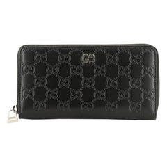 Gucci Zip Around Wallet GucciGhost Embossed Leather Long