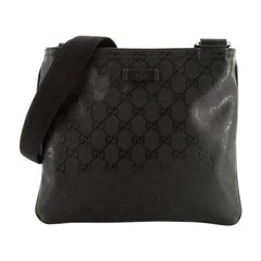 Gucci Zip Top Messenger Bag GG Imprime Small