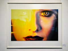 Sydney's yellow eyes - portrait of the face of a beautiful woman