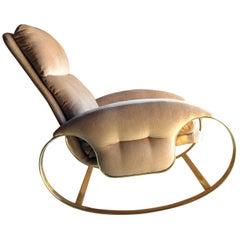 Guido Faleschini Rocking Chair Armchair Italian, 1970