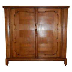 "Guillerme et Chambron, Waxed Oak and Veneer Oak Cabinet, ""Bouvine"""
