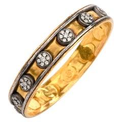 Gurhan Diamond 24 Karat Silver Bangle Bracelet