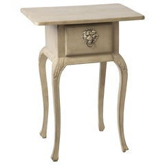 Gustavian Styled Side Table with Drawer and Curved Legs