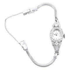 Hamilton 14 Karat White Gold Diamond Vintage Watch