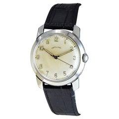 Hamilton Stainless Steel Art Deco Wristwatch, circa 1950s High Grade