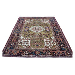 Hand Knotted Antique Persian Heriz Mint Condition Oriental Rug