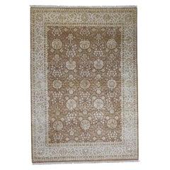 Hand Knotted Half Wool Half Silk Rajasthan Oriental Rug