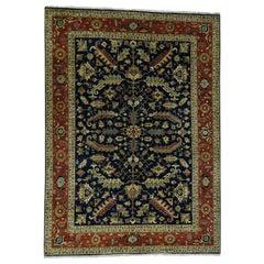 Hand Knotted New Zealand Wool Heriz Design Oriental Rug