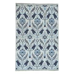 Hand Knotted Peshawar Arts & Crafts Design Oriental Rug
