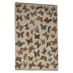 Hand Knotted Pure Wool Butterfly Design Oriental Rug