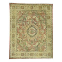 Hand Knotted Pure Wool Mamluk Design Oriental Rug