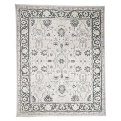 Hand Knotted Turkish Knot Oushak Pure Wool Oriental Rug