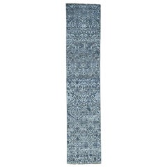 """Hand Knotted Undyed Natural Wool Oushak Runner Oriental Rug , 2'8""""x12'2"""""""