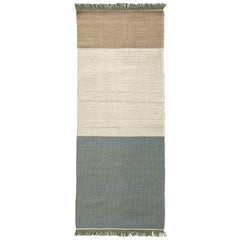 Hand-Loomed Tres Stripes Runner in Sage by Nani Marquina & Elisa Padro