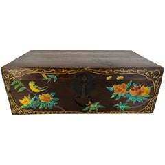 Hand Painted Asian Trunk, 19th Century