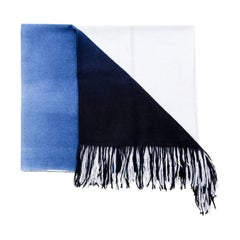 AZURE Handloom Cashmere Light Weight Ombre Dyed Throw / Blanket
