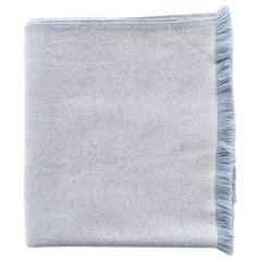 BORO Handloom Throw / Blanket In Soft Merino Twill Weave