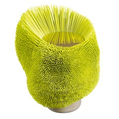 Handmade Bright Yellow 'Sea Anemone' Side Table by Pia Maria Raeder