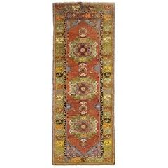 Handmade Carpet Antique Rug Oriental Runner Turkish Rug, Luxury Red Rug for Sale