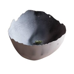 Handmade Cast Concrete Bowl in Grey by UMÉ Studio