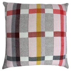 Handwoven 'Altitude Cent II' Bauhaus Merino Wool Large Cushion Pillow