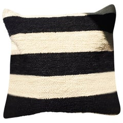 Handwoven Cotton Bold Stripe Throw Pillow, in Stock