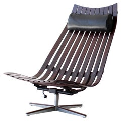 Hans Brattrud Rosewood Lounge Chair for Hove Mobler