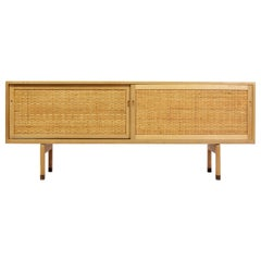 "Hans J. Wegner Danish Modern Sideboard in Oak and Rattan Model ""RY26"", 1960s"