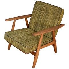 Hans Wegner GE240 Cigar Chair with Original Upholstery