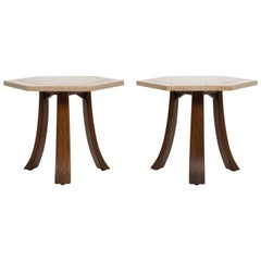 Harvey Probber Terrazzo Top End Tables