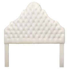 Head Board, White Ultra Leather, Queen Size
