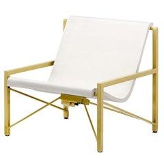 Heated Indoor/Outdoor Cast Stone Evia Chair, Custom Frame, Bone